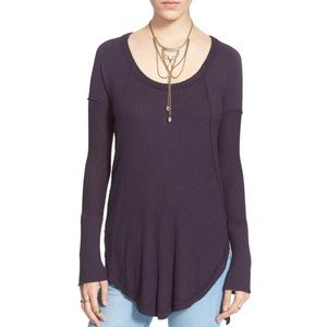 Free People Ventura Thermal Tunic Top Size Medium